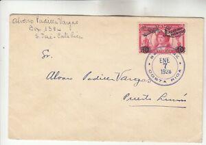Costa Rica Lindbergh Cover