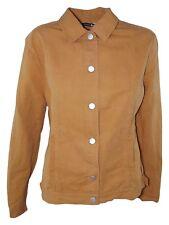 trussardi camicia giacca donna arancio scuro lino made italy taglia l large
