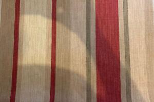 "12.x16"" cushion cover in Laura Ashley Awning stripe Lichen/raspberry & Austen"
