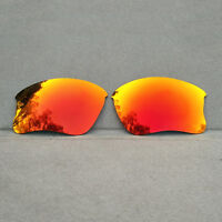 Orange Red Mirrored Polarized Replacement Lenses for-Oakley Flak Jacket XLJ