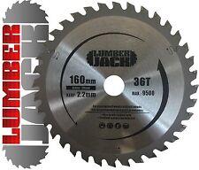 Lumberjack 36 DENTS TCT bois lame de scie circulaire FESTOOL Plunge TS55 160 mm x 20 mm