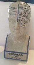 New listing 19th-century Replica Porcelain Phrenology Science Head Bust Statue Medical