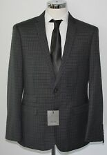 Men's Fellini tailored, Navy micro check 2pc suit (40R).. sample 2331