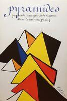 Calder Alexander Affiche offset signée art abstrait abstraction abstract Paris