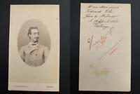 Vialardi, Torino, Guido Carl von Morpurgo Vintage albumen print CDV.Risorgimen