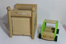 HTF Wooden Doll House Accessories Car and Garage for Ryans Room Melissa Doug
