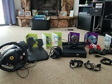 XBOX 360 s w/ kinect, 3 controllers and 6 games, Ferrari 458 wheel and pedals