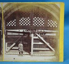Scarce 1860s Stereoview Photo The Tower Of London Traitor's Gate J Davis Burton