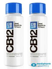 2 x CB12 Mouthwash Original Mint / Menthol 250ml bottle (500ml total)