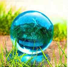 Asian lake blue Magic Glass Glass Crystal Ball Sphere 40mm+Stand