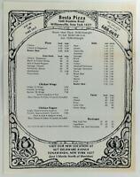 1980's Besta Pizza Original Vintage Restaurant Menu Williamsville New York
