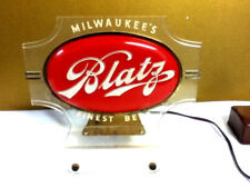 Blatz beer sign lighted back bar cash register topper light double sided bubble