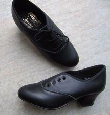 Freed Cuero Oxford Zapatos de caracteres chicas tamaño de Reino Unido 2 con Tacón Cubano * Nuevo *