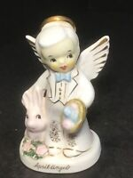 Vintage NAPCO Easter April Angel Boy with Rabbit  #1920 Figurine 1956 Japan~RARE