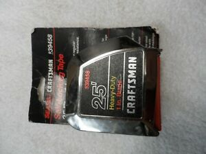 Craftsman NOS USA Heavy Duty Tape Measure, 1 in x 25 ft - Part # 39458