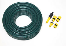New 50m Hosepipe Set Green Garden Hose + Connectors Hozelock Compatible