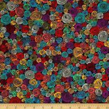 Fat Quarter Kaffe Fassett Rolled Paper Black 100% Cotton Patchwork Quilt Fabric