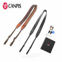 CANPIS Adjustable Universal Brown and Black Leather for camera DSRL 07