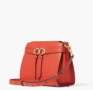 KATE SPADE TOUJOURS CROSSBODY BAG LAVA RED LEATHER-NEW