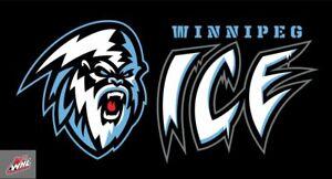Winnipeg Ice Junior Hockey Embroidered Sweatshirt S-5XL, LT-4XLT New