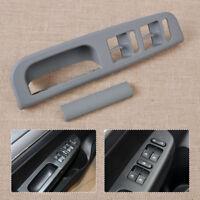 Grey Door Window Switch Control Panel+Handle Trim fit for VW Passat Golf Jetta