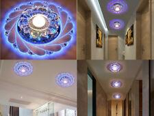 New Modern Crystal Saving Bright Ceiling Blue Light Lamp Lighting Chandelier