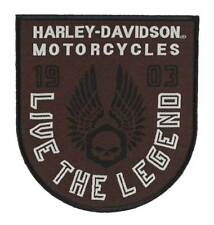 Harley-Davidson Embroidered Forged Wings Emblem Patch, 3.375 x 3.75 in EM325392