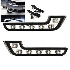 Car Daytime Running Light White 6 LED DRL Driving Daylight Fog Light Bulbs 2PCS