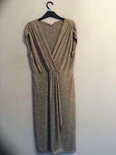 MARKS AND SPENCER PER UNA Gold Dress. Size 14. NEW WITHOUT TAGS. Occasion. Party
