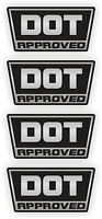 Silver DOT Approved Motorcycle DIrt Bike Helmet Stickers / Decals Labels D.O.T.