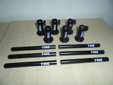 """6 x Anodized Aluminium Stage stands with locking nuts, with 6 x 5"""" inserts. Carp"""