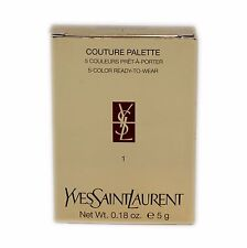 YSL COUTURE PALETTE 5-COLOR READY-TO-WEAR 0.18 OZ/5 G #1 NIB-74224
