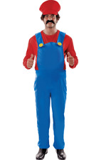 Orion Costumes Mens Plus Size Super Mario Plumber Outfit Fancy Dress Costume