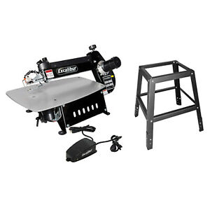 General International EX-21 Tilting Head 21 Inch Scroll Saw with Steel Stand