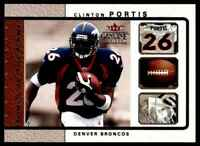 2003 FLEER GENUINE INSIDER TOOLS OF THE GAME CLINTON PORTIS DENVER BRONCOS #2 OF
