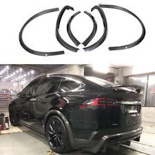 6PCS Carbon Wheel Eyebrow Arch Trim Lips Fender Flares For Tesla Model X 16-18