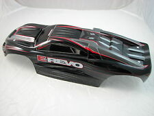 NEW BLACK E-REVO PAINTED BODY WITH STICKERS TRAXXAS