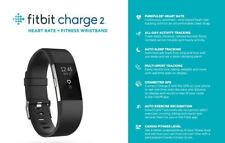 Fitbit FB407SBKL Charge 2 Fitness Wristband Large -  Black *NEW UNUSED*