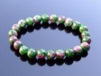 Ruby Zoisite Natural Dyed Gemstone Bracelet 6-9'' Elasticated Healing Stone