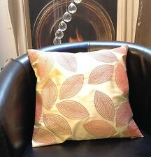 Cream with Red and Orange Leaf Design Evans Lichfield Cushion Cover