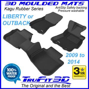Fits Subaru Liberty / Outback 2009 - 2014 - 3D Kagu Rubber Moulded Floor Mats