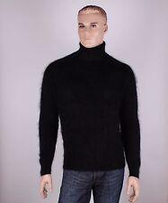 Langhaar Angora Herren Pullover , Farbe: schwarz, Größe: L oder XL nach Wahl