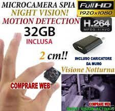 MICROSPIA SQ8 Camera Spia FULL HD SPYCAM MOTION TELECAMERA NASCOSTA + SD 32GB