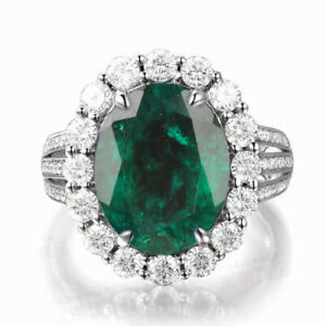 Oval Shape 1.80 Carat 100% Natural Zambian Emerald Solitaire Ring In 925 Silver