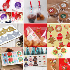 CLEARANCE 40-160X Christmas Sticky Stickers Labels Gift Envelope Seal Party Bags