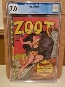Zoot Comics #15 CGC 7.0 Off-White to White Pages Jungle Goddess The Falcon 1948