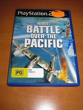 PS2 Game - WWII : BATTLE OVER THE PACIFIC + BOOKLET MANUAL ~ LIKE NEW !