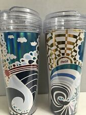 COCA COLA ROYAL CARIBBEAN CRUISE X 2 TRAVEL DRINK CONTAINER COOLER CUP 2015