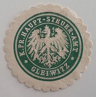 Siegelmarke Vignette K. Pr. Haupt-Steuer-Amt Gleiwitz (7404)