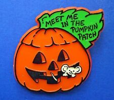 BUY1&GET1@50%~Paula Morgan PIN Halloween MOUSE JOL Meet Me in Pumpkin Patch Vtg